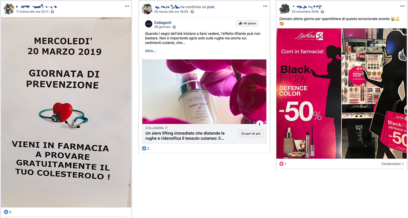 esempi marketing facebook farmacia