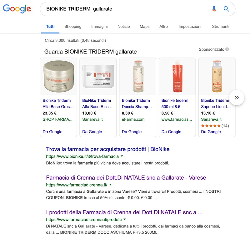 farmacia di crenna gallarate google