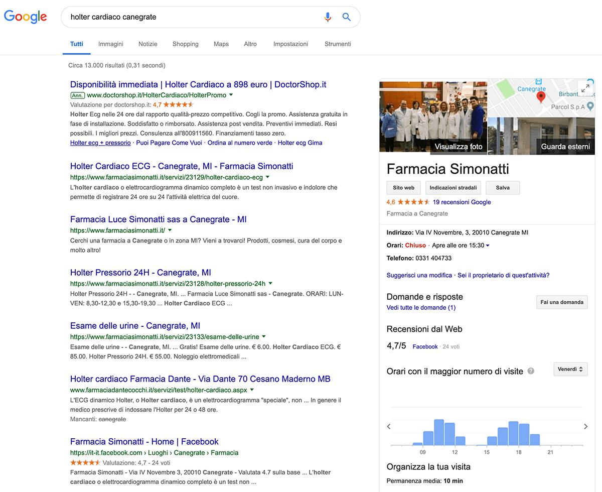 farmacia simonatti su google