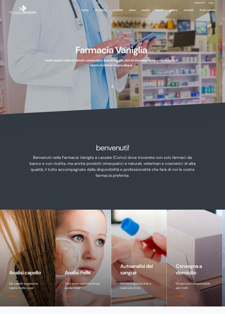 un nuovo template per Farmacia Evoluta, Vaniglia.