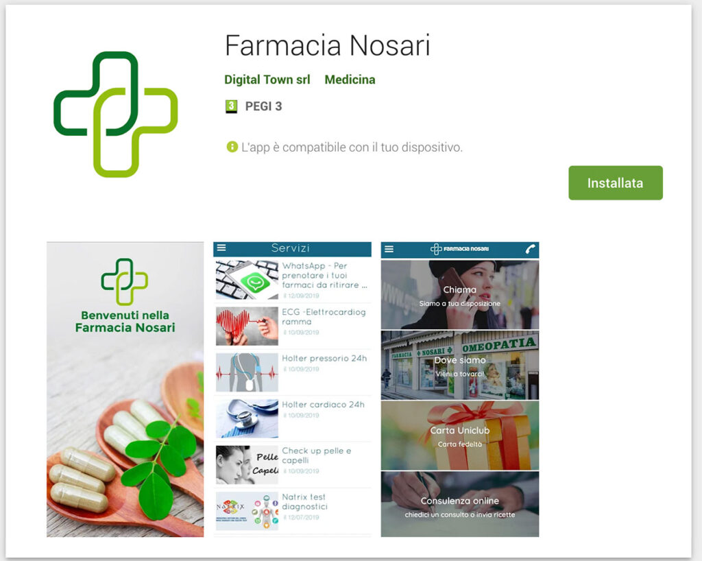app farmacia nosari farmacia evoluta